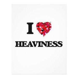 """I Love Heaviness 8.5"""" X 11"""" Flyer"""