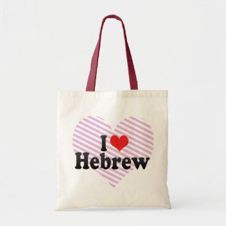 I Love Hebrew Tote Bag