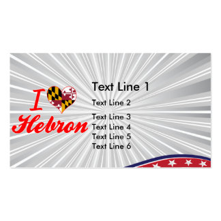I Love Hebron, Maryland Double-Sided Standard Business Cards (Pack Of 100)