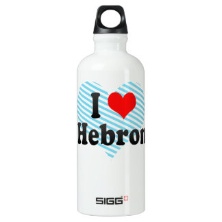 I Love Hebron, Palestinian Territory Aluminum Water Bottle