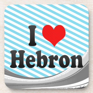 I Love Hebron, Palestinian Territory Beverage Coaster