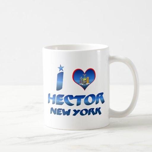 I love Hector, New York Classic White Coffee Mug