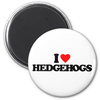 I LOVE HEDGEHOGS 2 INCH ROUND MAGNET