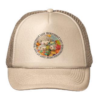 I Love Hedgehogs Cap Trucker Hat