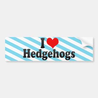 I Love Hedgehogs Car Bumper Sticker