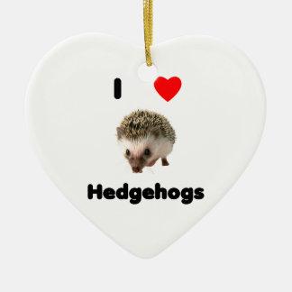 I love hedgehogs ceramic ornament