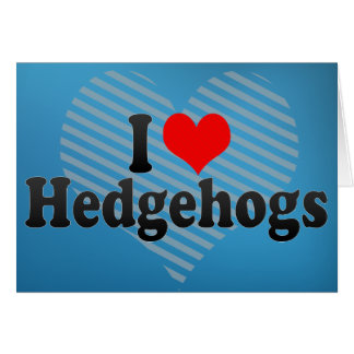 I Love Hedgehogs Greeting Card