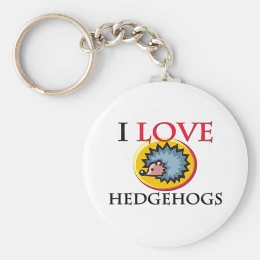 I Love Hedgehogs Key Chains