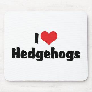 I Love Hedgehogs Mouse Pad