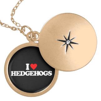 I LOVE HEDGEHOGS ROUND LOCKET NECKLACE