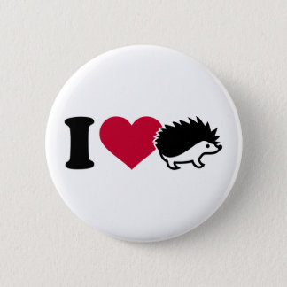 I love hedgehogs pinback button