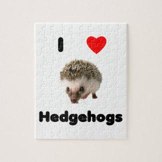 I love hedgehogs puzzles