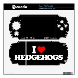 I LOVE HEDGEHOGS DECALS FOR THE PSP 3000