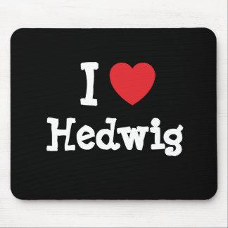 I love Hedwig heart T-Shirt Mouse Mat