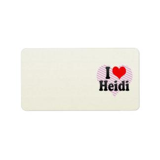 I love Heidi Address Label