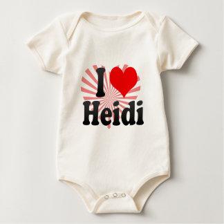 I love Heidi Baby Bodysuit