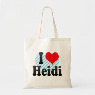 I love Heidi Budget Tote Bag