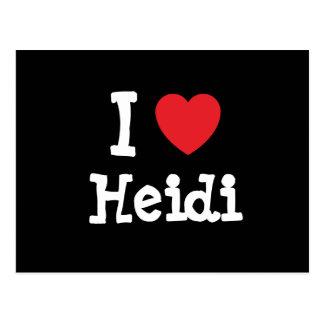I love Heidi heart T-Shirt Postcard