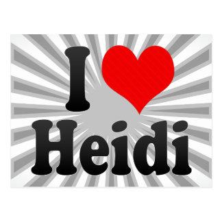 I love Heidi Postcard