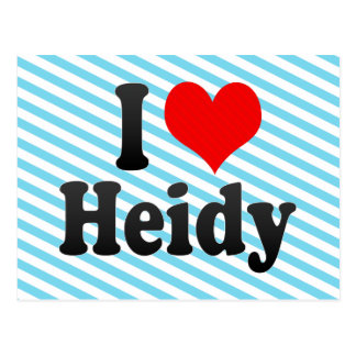 I love Heidy Postcard