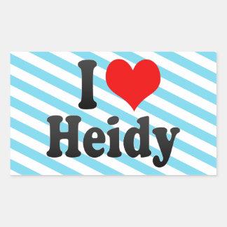 I love Heidy Rectangular Sticker