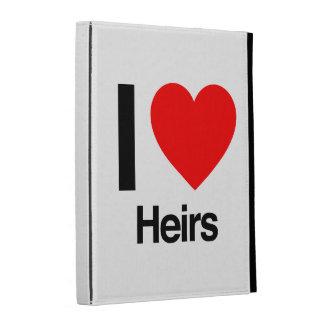 i love heirs iPad folio case