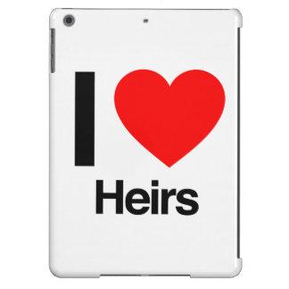 i love heirs iPad air cases