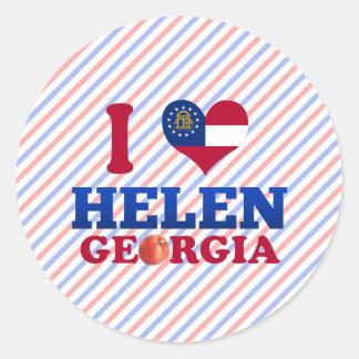 I Love Helen, Georgia Classic Round Sticker