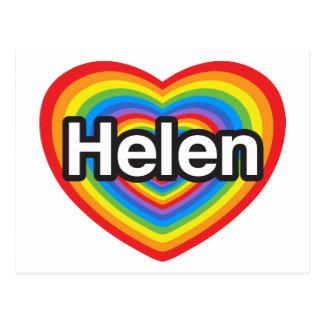 I love Helen. I love you Helen. Heart Postcard