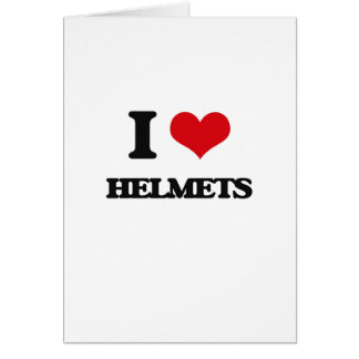 I love Helmets Greeting Cards