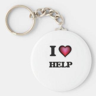 I love Help Keychain