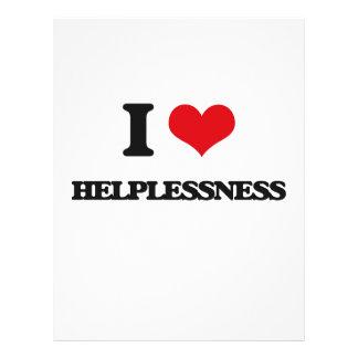 "I love Helplessness 8.5"" X 11"" Flyer"