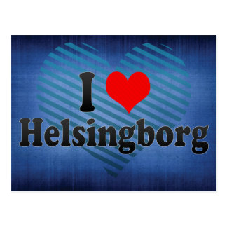 I Love Helsingborg, Sweden Postcard