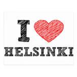 I Love Helsinki Postcard
