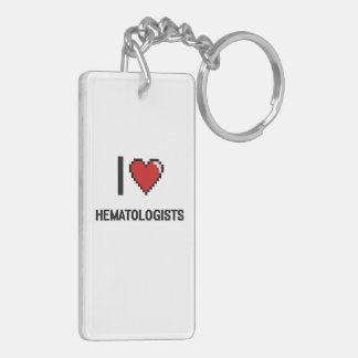 I love Hematologists Double-Sided Rectangular Acrylic Keychain