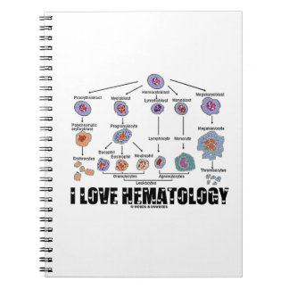 I Love Hematology (Blood Cell Lineage) Notebook