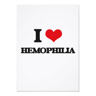 I love Hemophilia 5x7 Paper Invitation Card