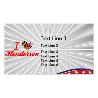 I Love Henderson, Maryland Double-Sided Standard Business Cards (Pack Of 100)