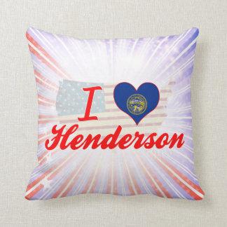 I Love Henderson, Nebraska Pillow
