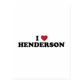 I Love Henderson Nevada Postcard