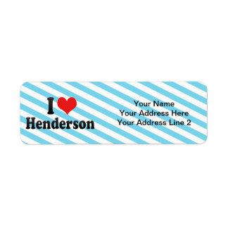 I Love Henderson Return Address Label