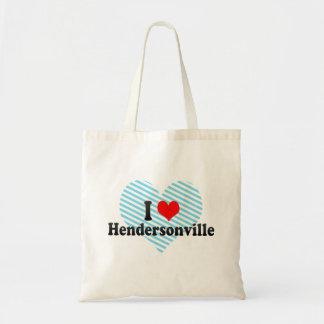I Love Hendersonville, United States Budget Tote Bag