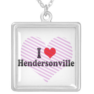 I Love Hendersonville, United States Square Pendant Necklace