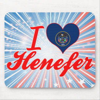 I Love Henefer, Utah Mouse Pad