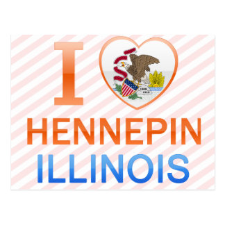 I Love Hennepin, IL Post Card