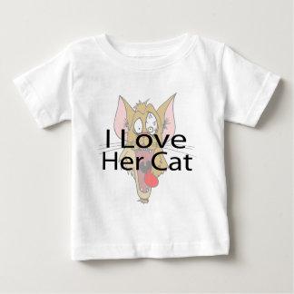 I Love Her Cat black Baby T-Shirt