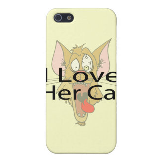 I Love Her Cat black Case For iPhone SE/5/5s