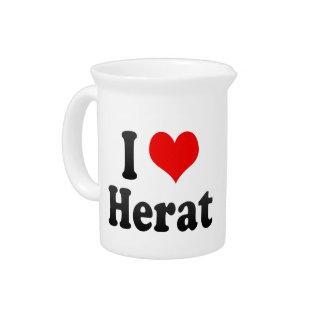 I Love Herat, Afghanistan Pitchers