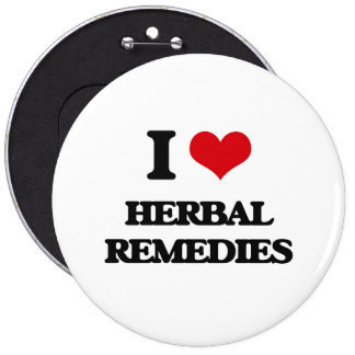 I love Herbal Remedies Pinback Button