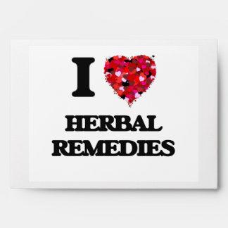 I Love Herbal Remedies Envelopes